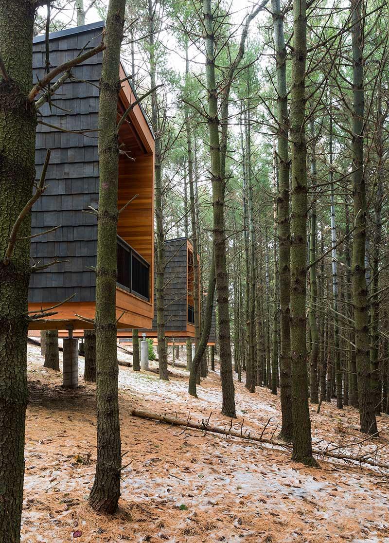 modern elevated cozy camper cabins in farmington mn