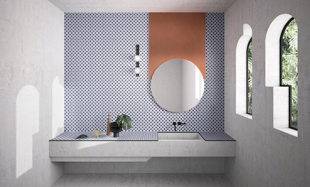 modern ceramic tiles bathroom - House of Tiles