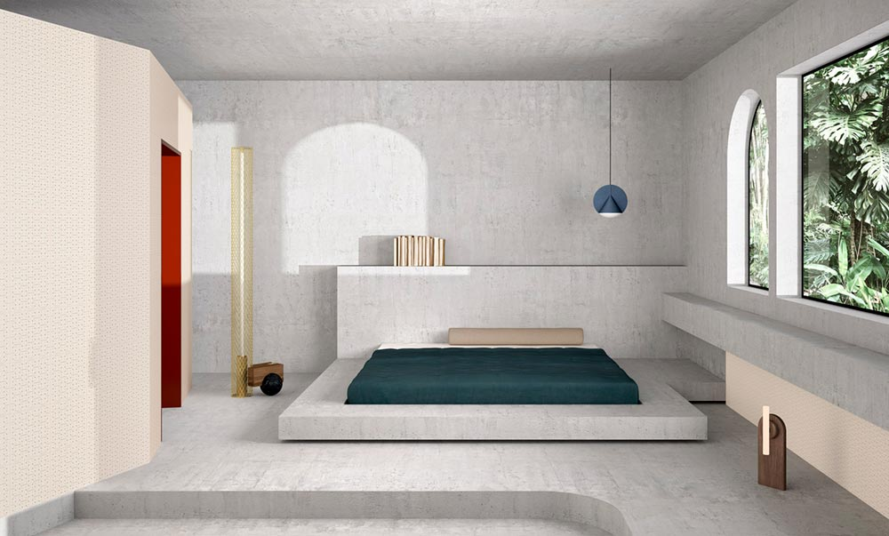 modern ceramic tiles bedroom - House of Tiles