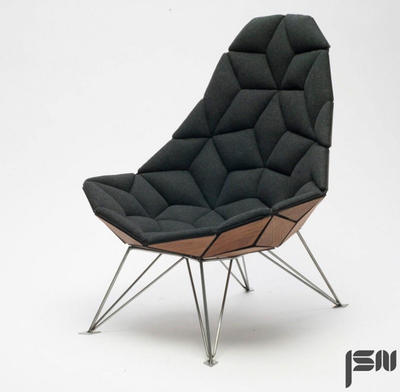 Tiles chair furniture for Contemporary armchair