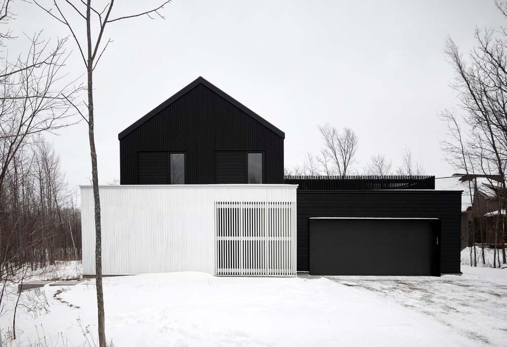 modern chalet design facade - Alta Chalet