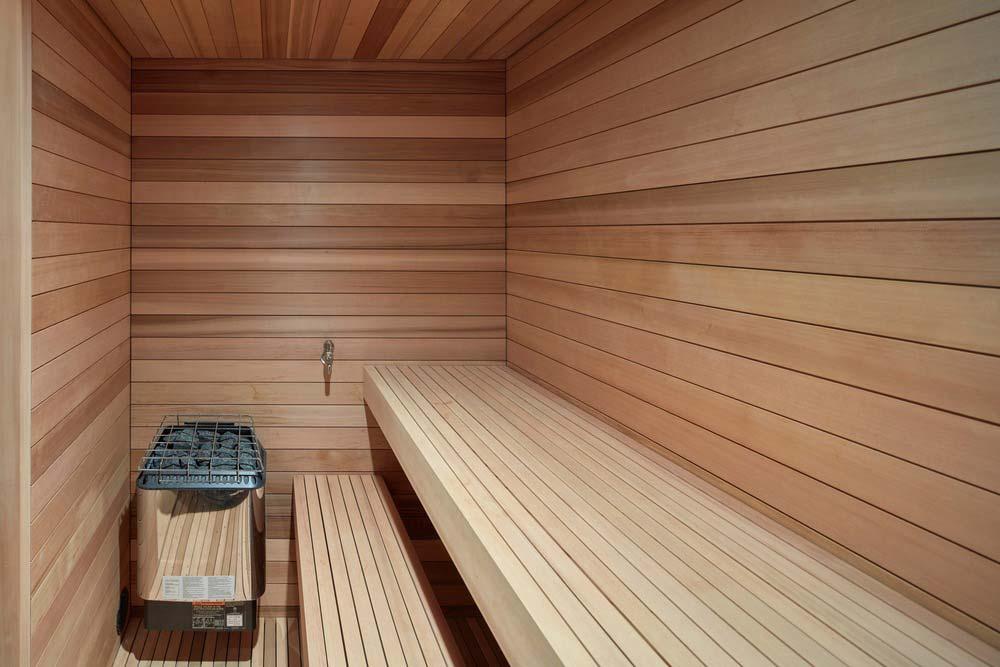 modern chalet design sauna - Alta Chalet