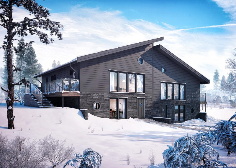 modern chalet esny 800x571 - Björnen Chalet: Ski In Ski Out