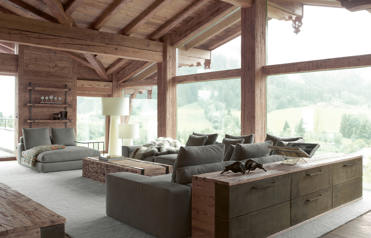 Chalet 2010 rustic modern home beautiful interiors for Interior design styles traditional contemporary