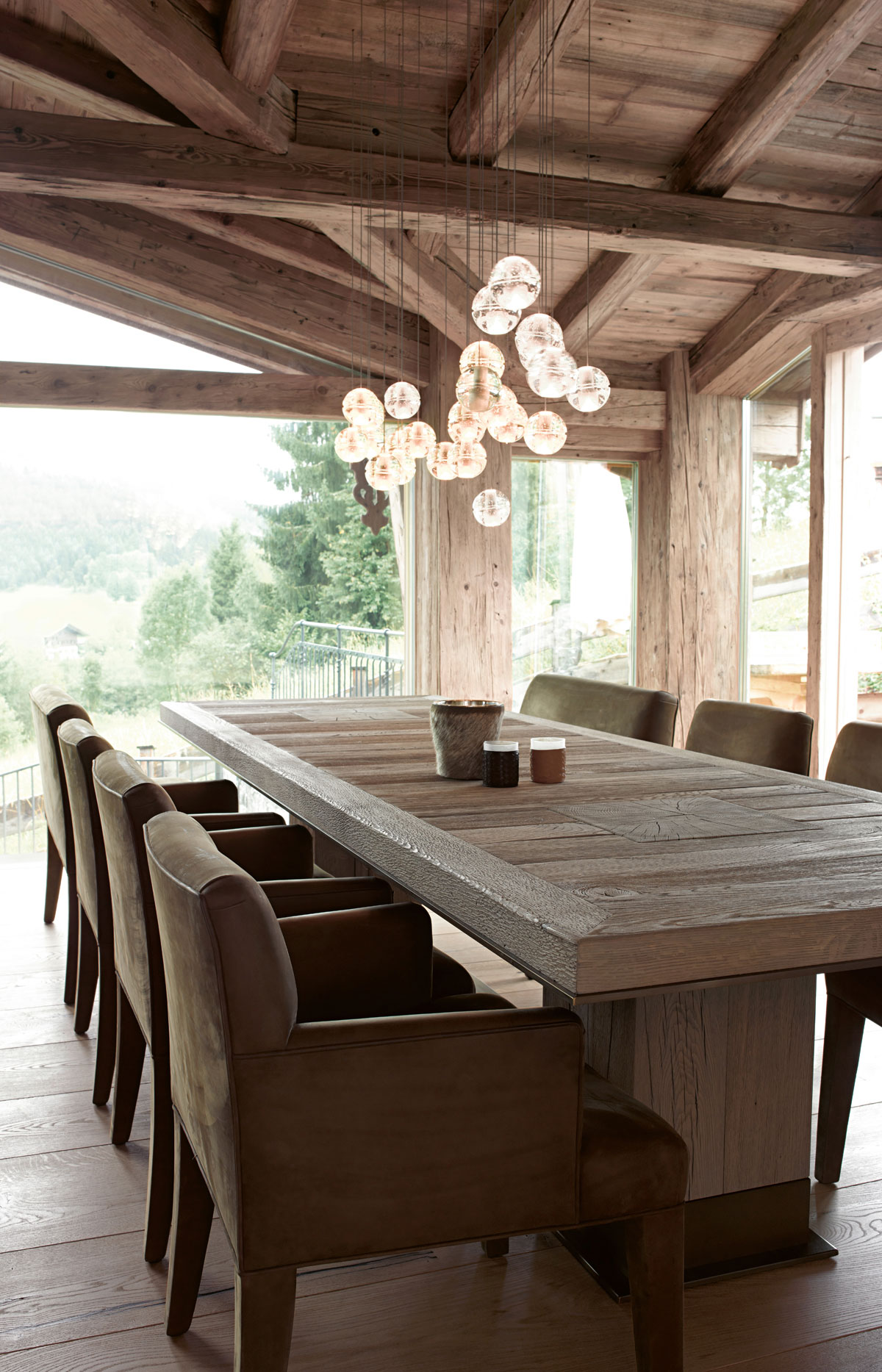 Chalet 2010 rustic modern home beautiful interiors - Chalet moderne ...