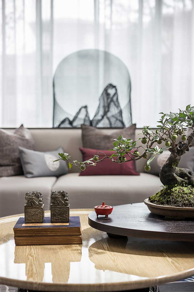 modern chinese home design bonsai - Jinke JiuQu River House