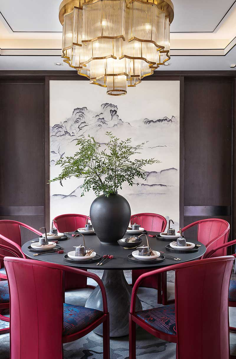 modern chinese home design dining - Jinke JiuQu River House