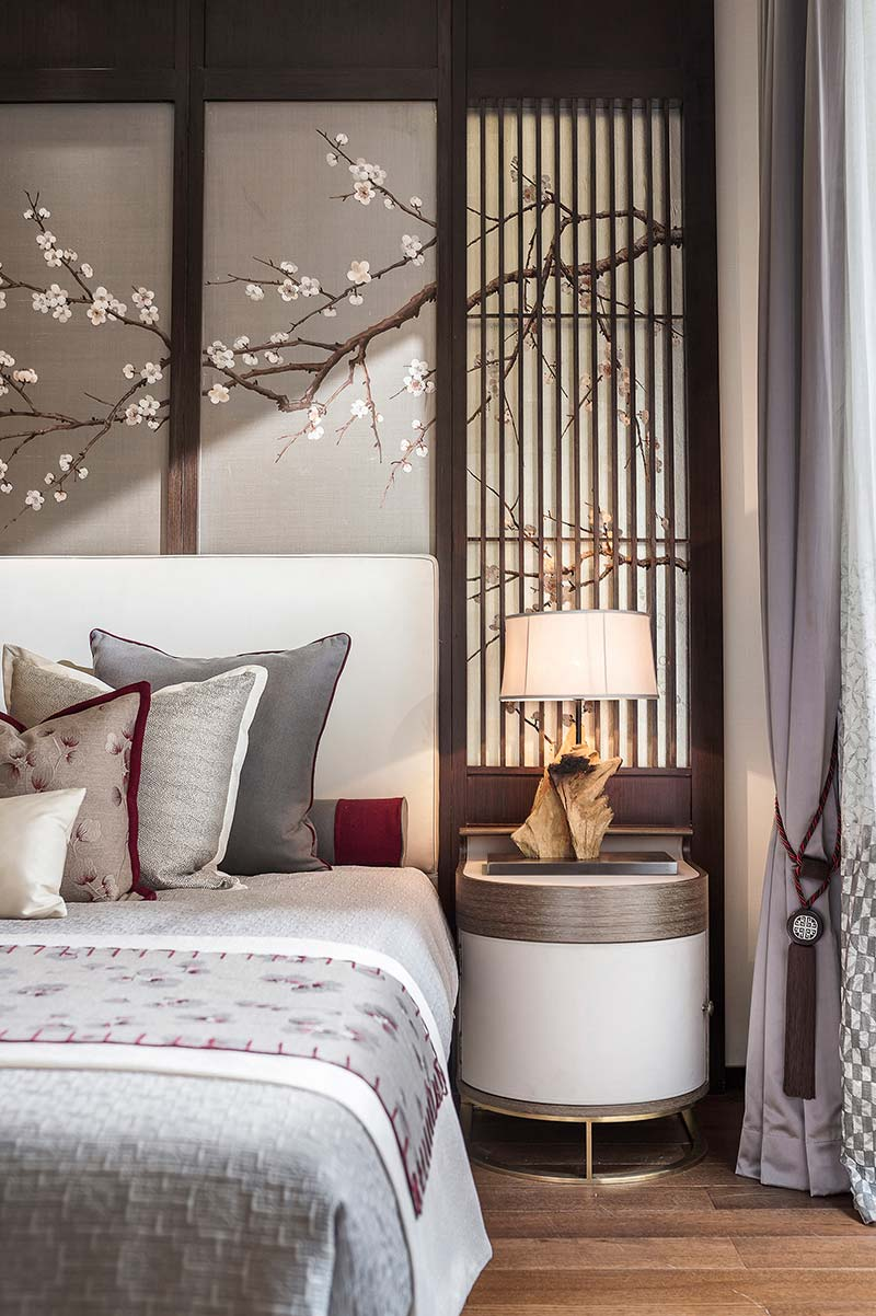 modern chinese home design guestroom - Jinke JiuQu River House