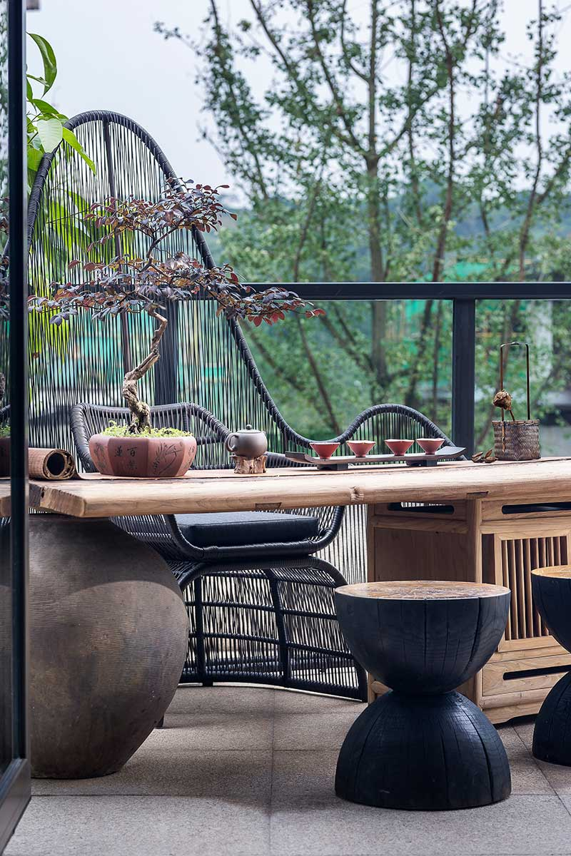 modern chinese home design outdoors - Jinke JiuQu River House