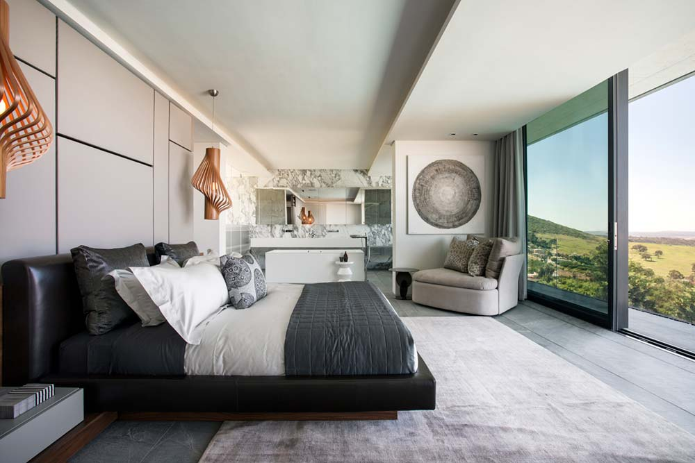Elegant Master Bedroom With Views