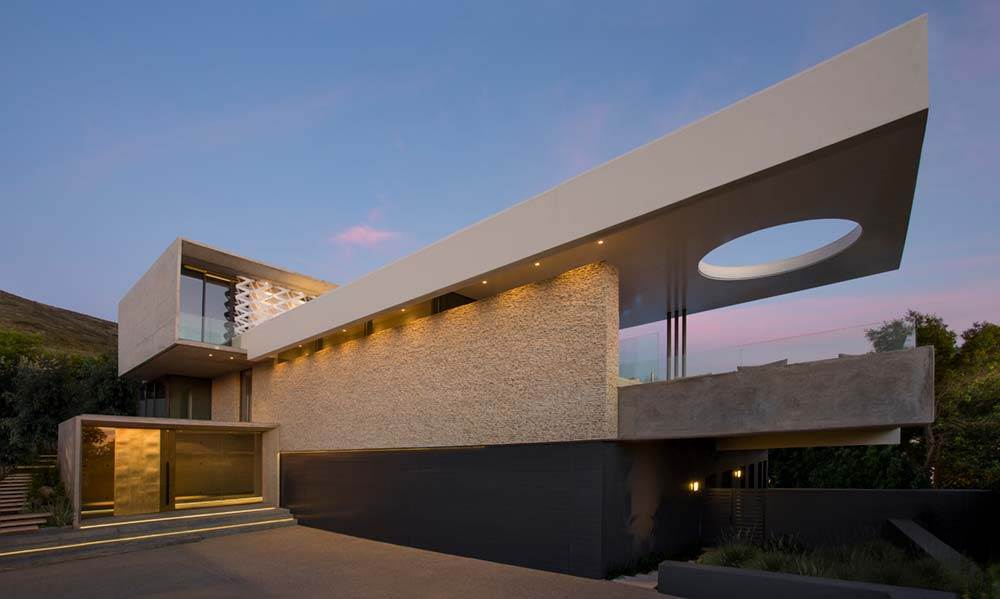 Two Story Concrete Planes House Design