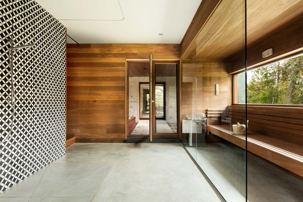 modern cliff house bathroom design yh2 - Hanging from a Cliff Residence