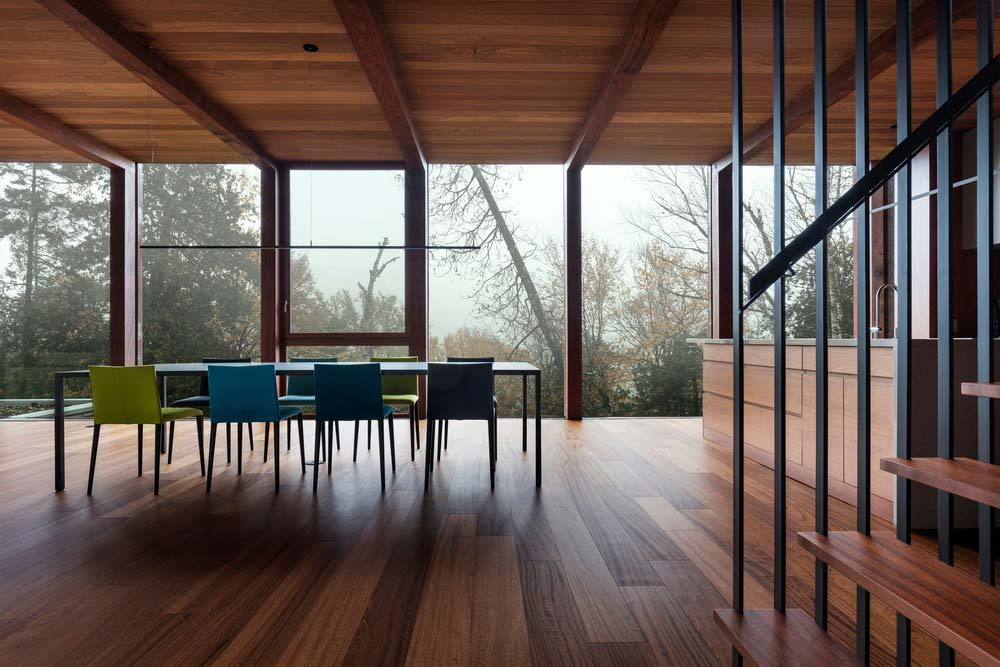 modern cliff house dining design yh2 - Hanging from a Cliff Residence