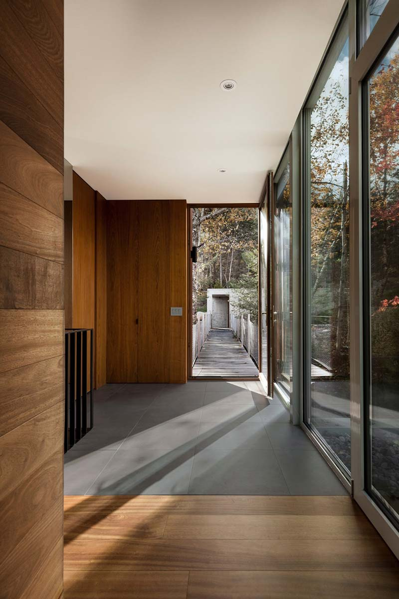 modern cliff house entrance design yh2 - Hanging from a Cliff Residence