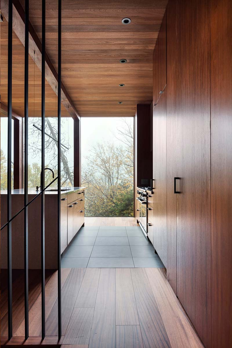 modern cliff house kitchen design yh2 - Hanging from a Cliff Residence