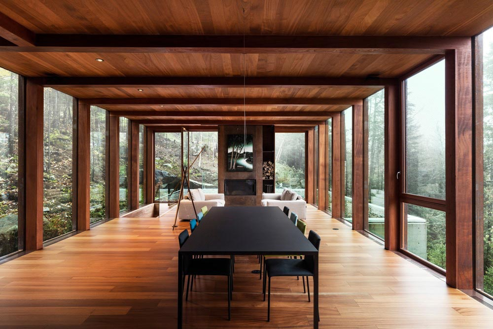 modern cliff house living design yh2 - Hanging from a Cliff Residence