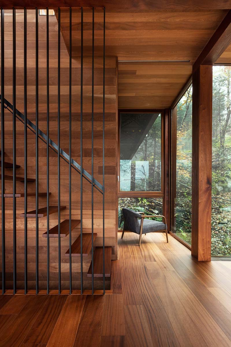 modern cliff house stairs design yh2 - Hanging from a Cliff Residence