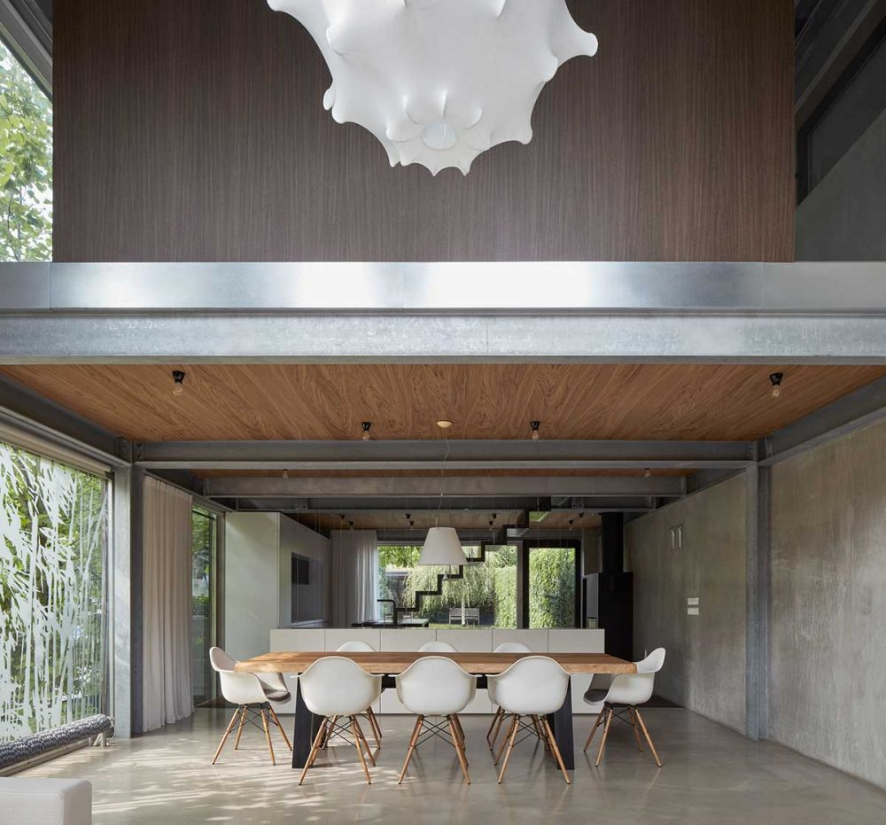 modern concrete house dining okp 1000x931 - Rusty House