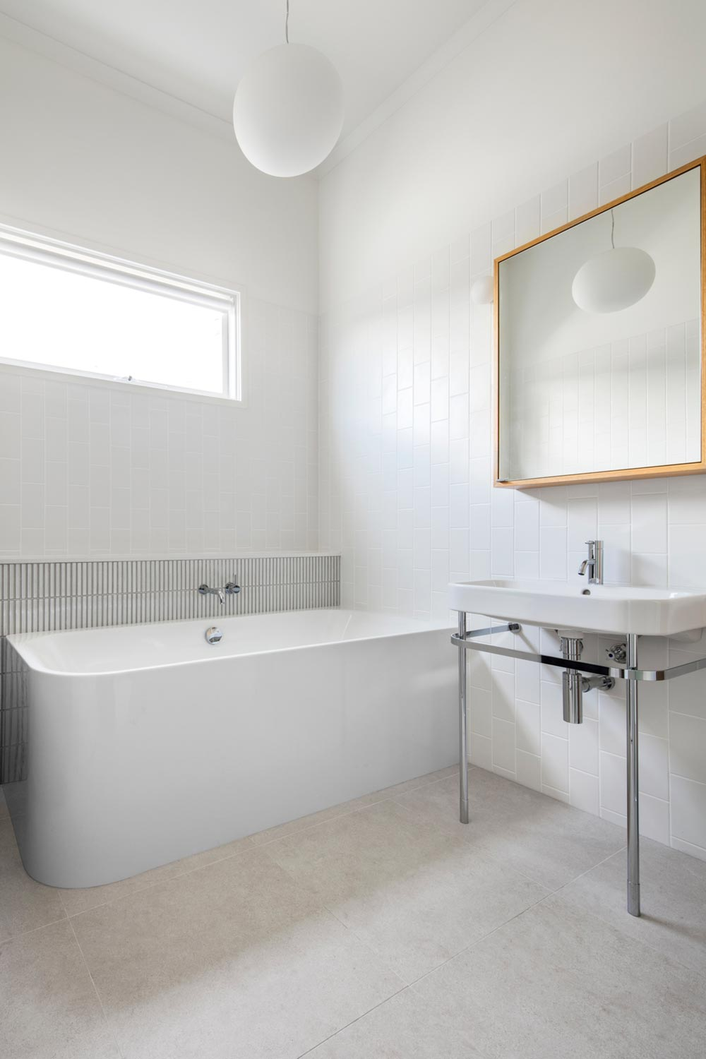 modern cottage design bathroom - Gable House