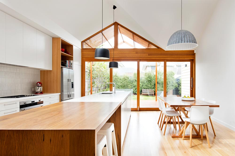 modern cottage design dining - Gable House