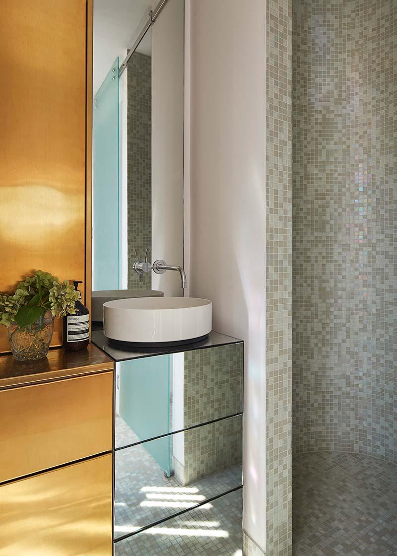 modern cottage design round shower - Victorian Cottage Renovation