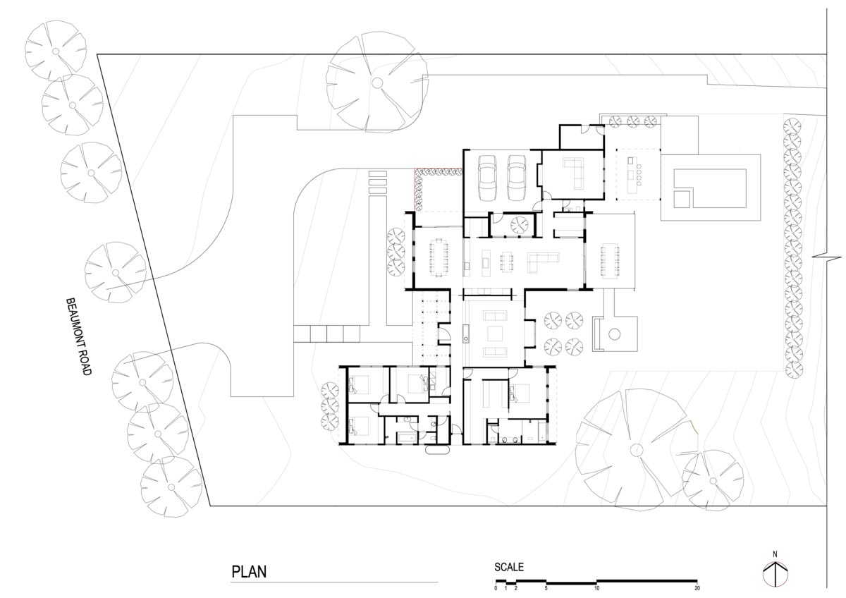 modern country home design plan - House in Silhouette