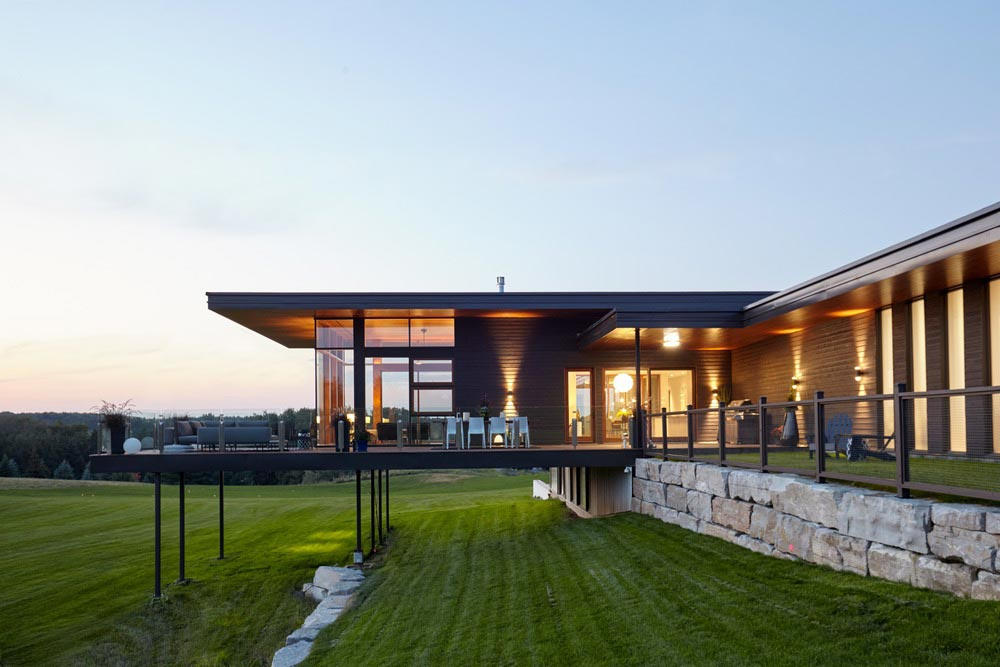 modern country home design porch - Stouffville Residence