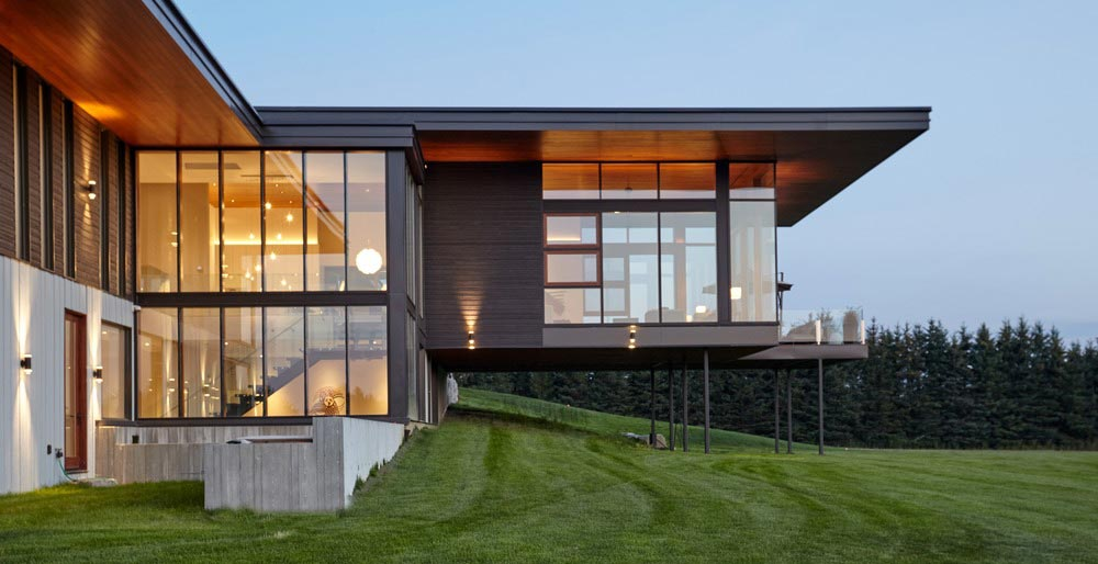 modern country home design windows - Stouffville Residence