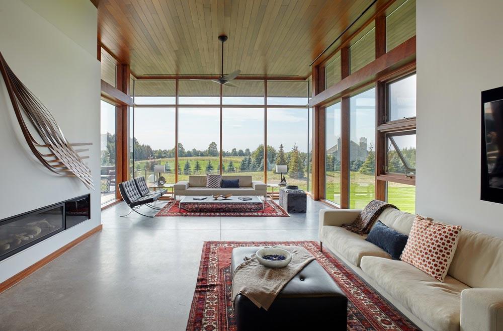 modern country home living design - Stouffville Residence