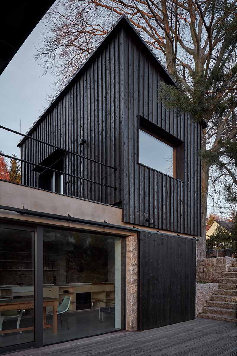 modern country house design back ma - House Behind a Wall