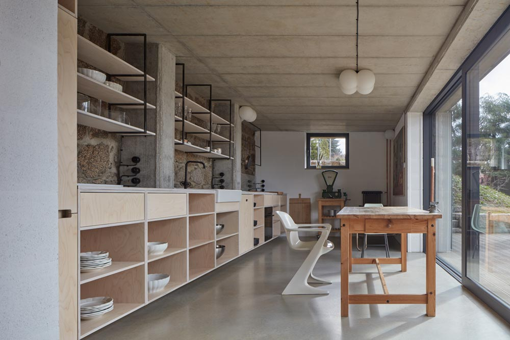 modern country house kitchen design ma - House Behind a Wall
