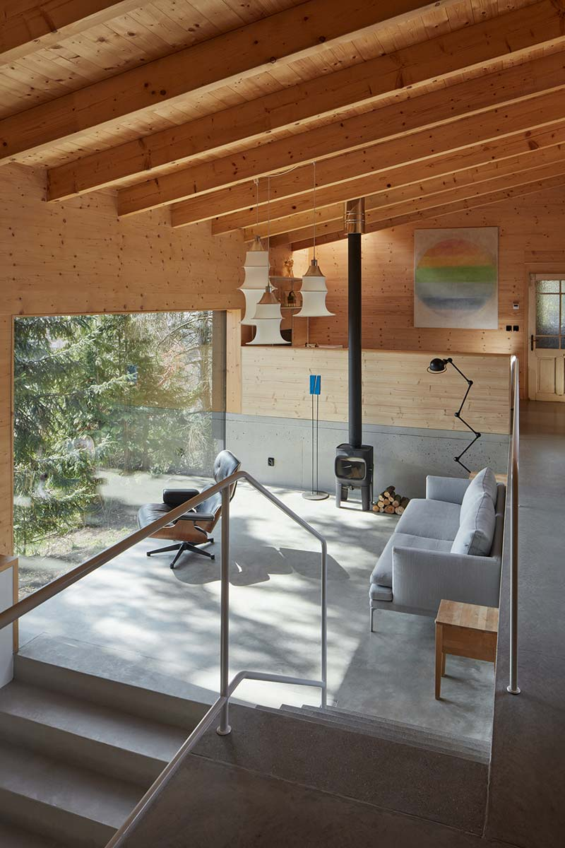 modern country house lounge design ma - House Behind a Wall