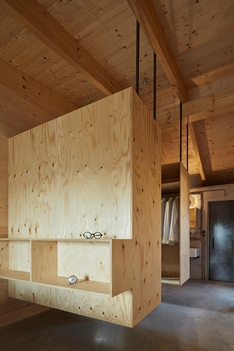 modern country house wardrobe design ma - House Behind a Wall