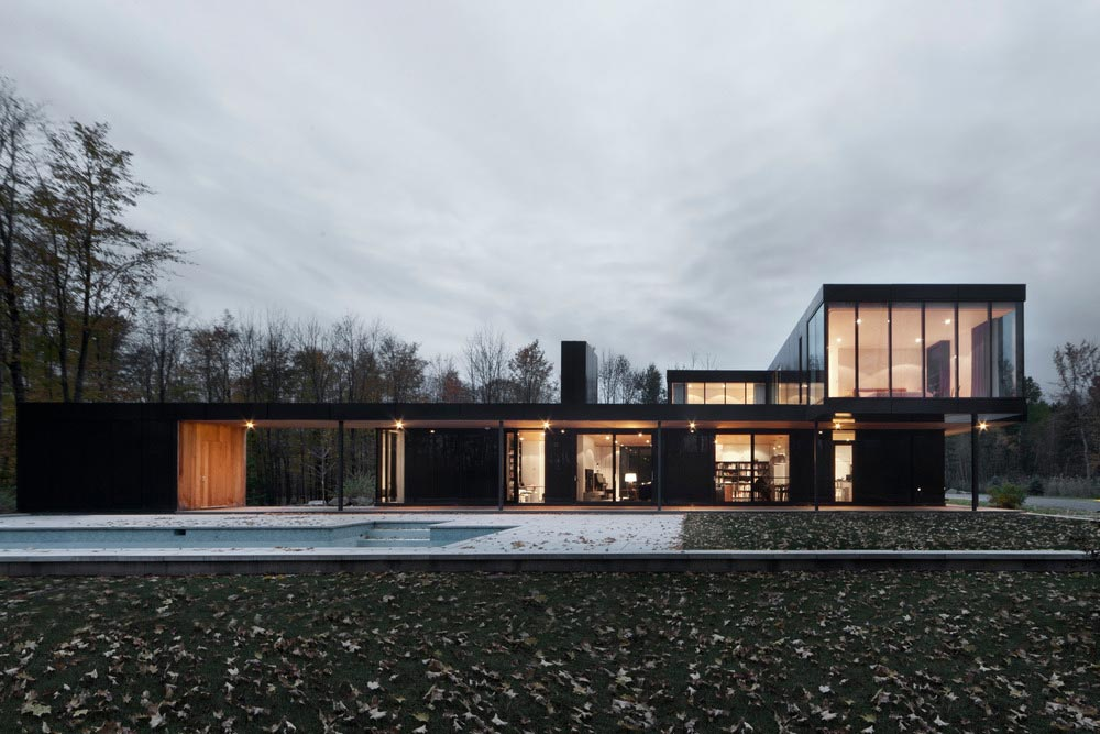 Modern Countryside Home For Two Families In Sutton Canada