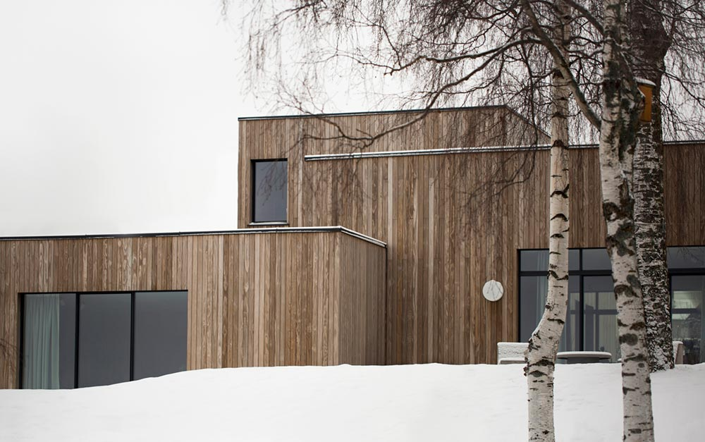 modern cube house exterior - The Gjøvik House