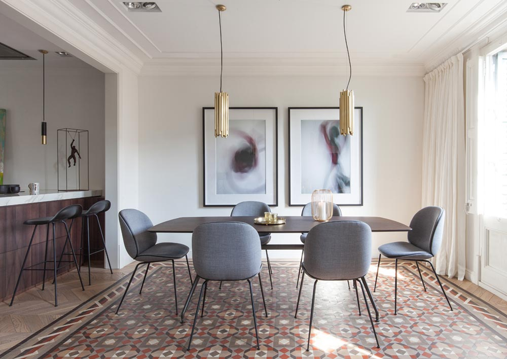 modern dining room design barcelona - Aribau Apartment