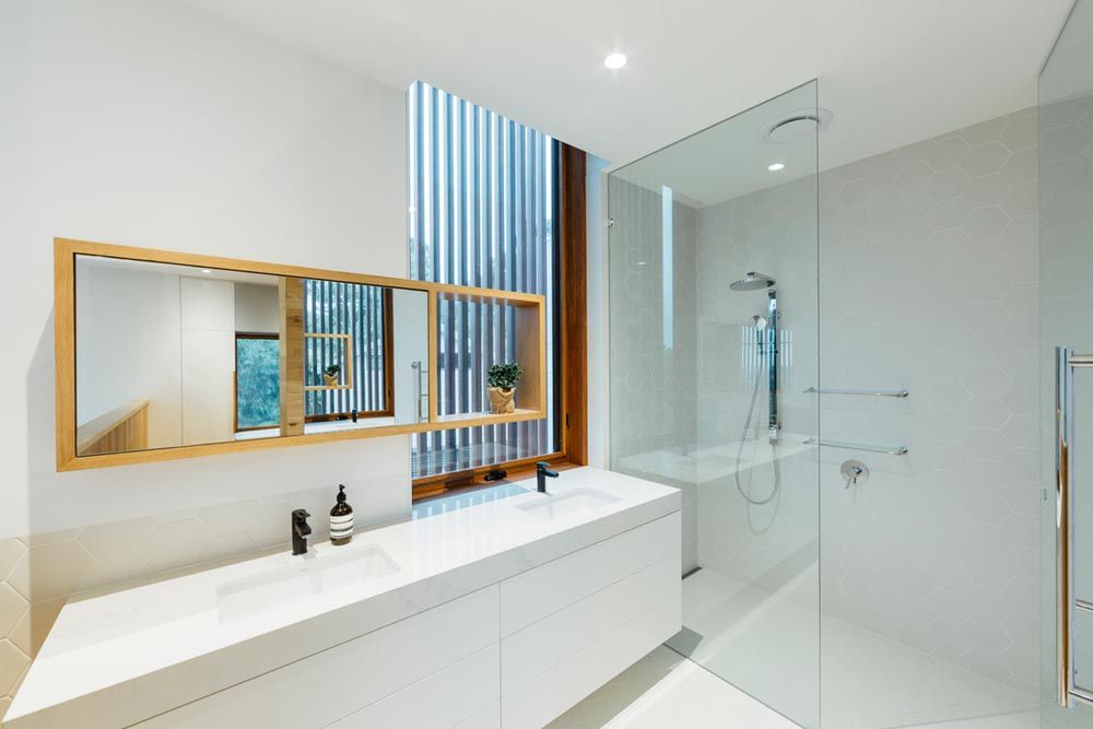 modern family home bathroom - Invermay House