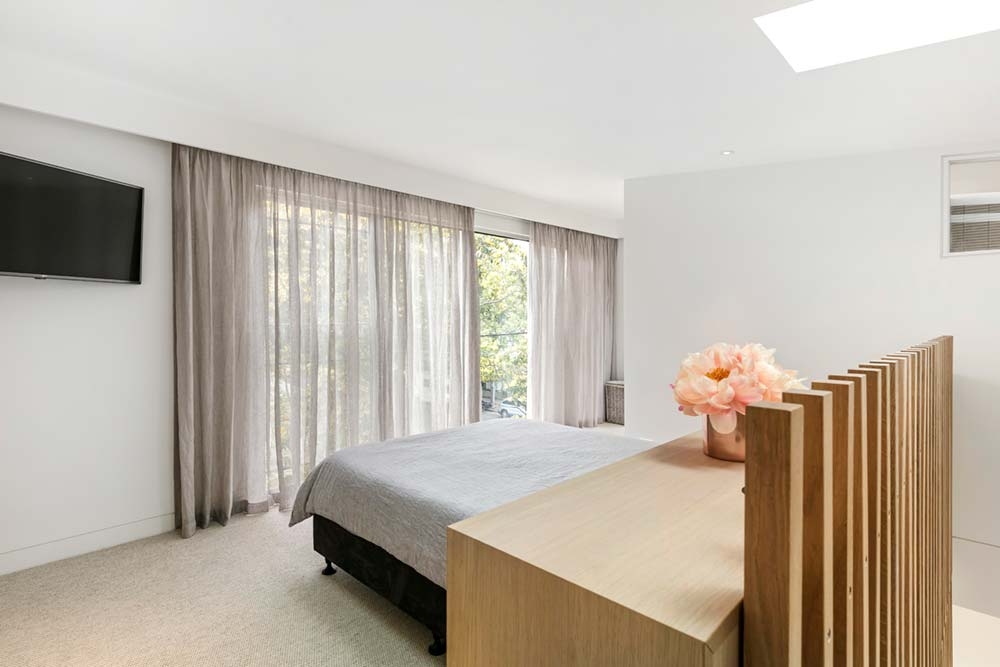 modern family home bedroom 1 - Port Melbourne Residence
