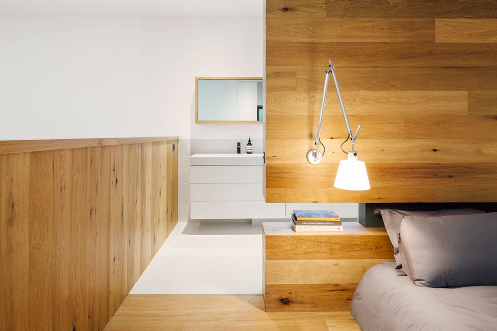 modern family home bedroom - Invermay House