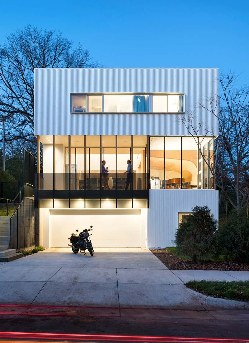 modern family home design facade - Stack House