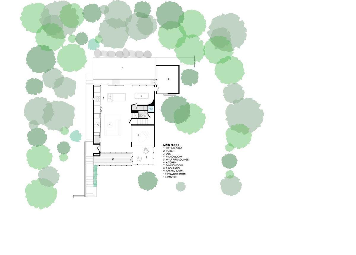 modern family home design plan 1 - Stack House