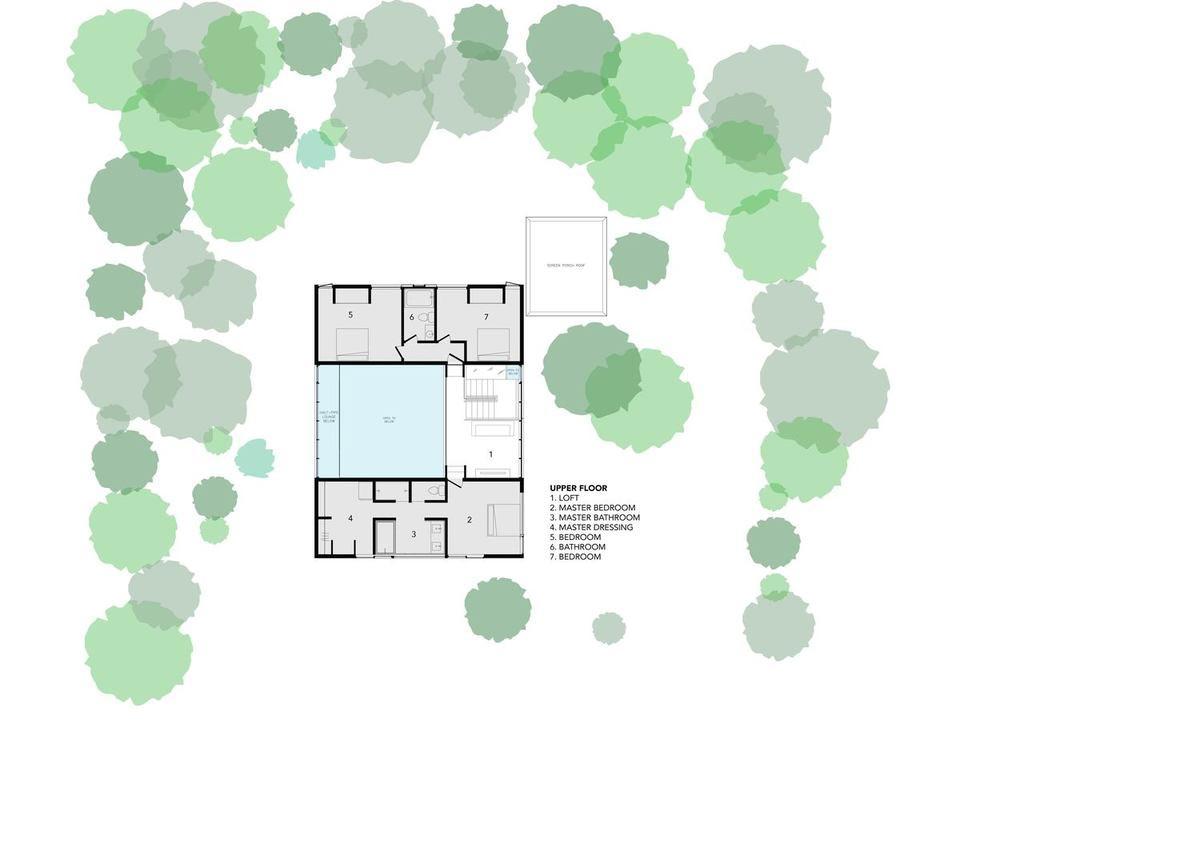 modern family home design plan 2 - Stack House