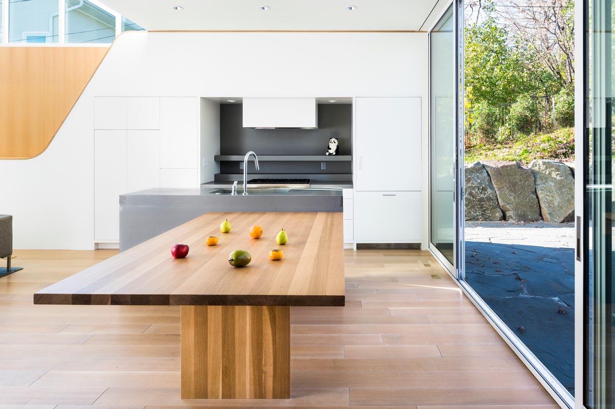 modern family home kitchen design - Stack House