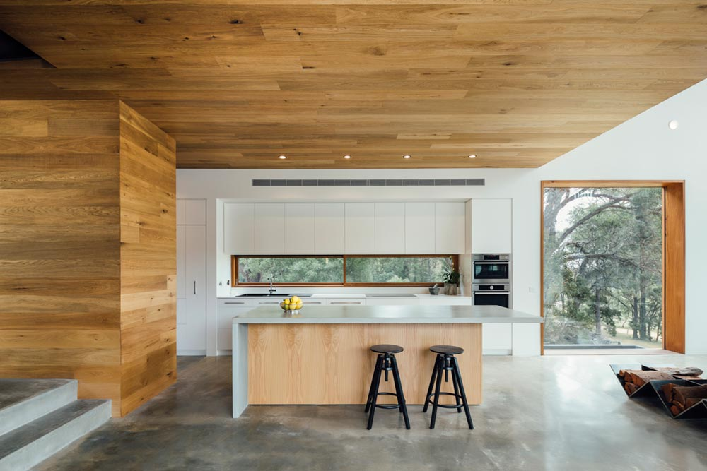 modern family home kitchen island - Invermay House