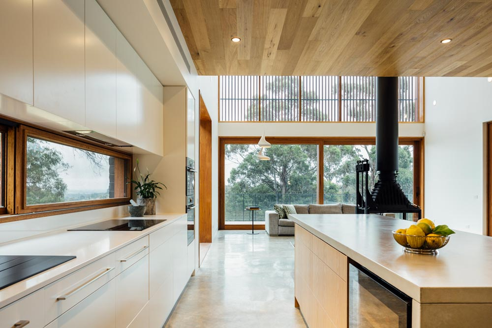 modern family home kitchen - Invermay House