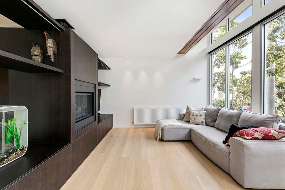 modern family home liviing room - Port Melbourne Residence