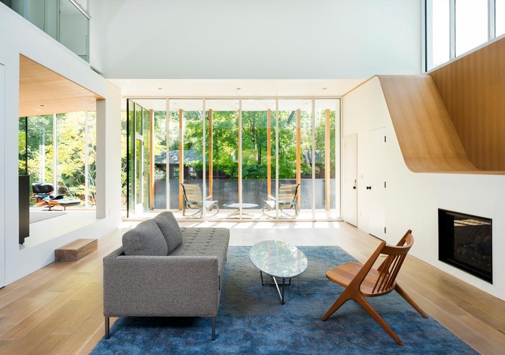 modern family home living design - Stack House