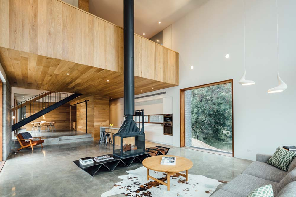 modern family home open space - Invermay House