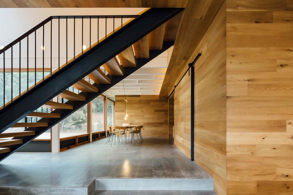 modern family home stairs - Invermay House