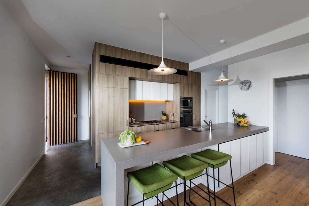 modern family house kitchen design ja - St Kilda East Townhouses